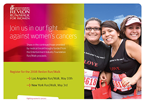 Revlon Run/Walk home page