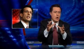 Stephen Colbert slamming Eric Cantor