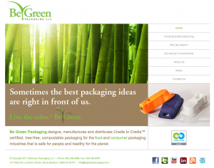 Be Green home page