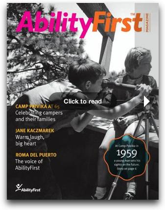 Newly redesigned AbilityFirst Magazine