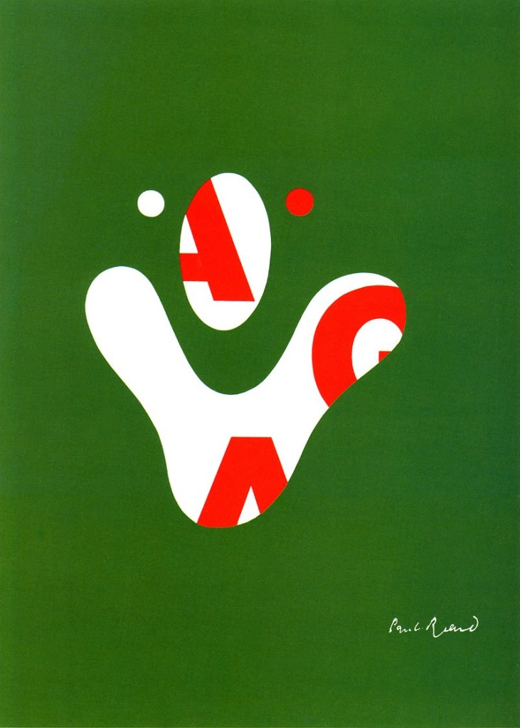 AIGA poster by Paul Rand