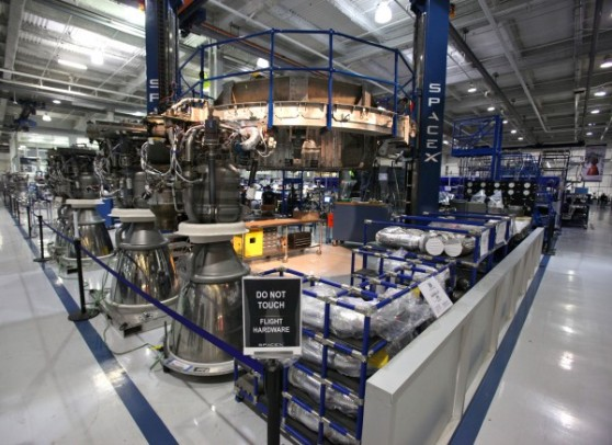 Engines being assembled in an Octaweb harness