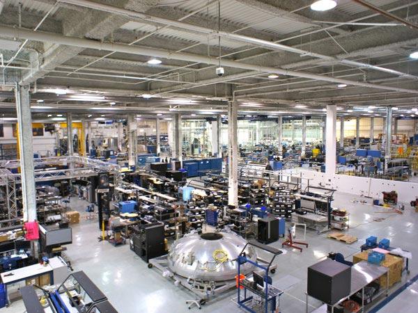 SpaceX factory floor