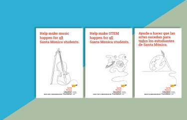 A series of posters announcing the change and clarifying the programs the Ed Foundations supports.